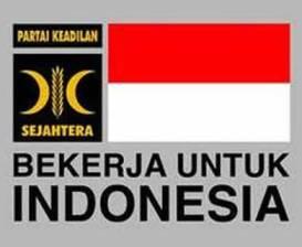 "Logo PKS ""Bekerja untuk Indonesia"". (inet)"