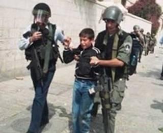 Anak Palestina ditangkap militer Israel (knrp)