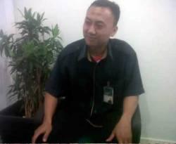 Agus Chaerudin (35), Office boy Bank Syariah Mandiri (BSM). (detikcom)