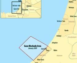 Peta blokade terhadap wilayah Gaza. (wikipedia)