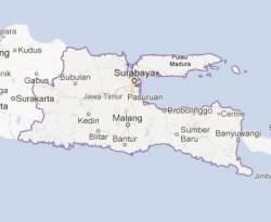 Ilustrasi - Peta Jawa Timur (Jatim). (Google.com)