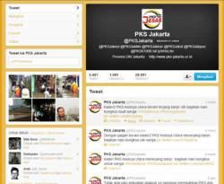 Cuplikan akun twitter @pksjakarta tanggal 16 Januari 2013. (Twitter.com)
