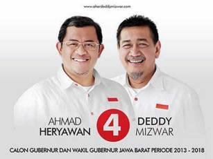 Pasangan Cagub-Cawagub Jabar no. 4 Ahmad Heryawan - Deddy Mizwar. (inet)