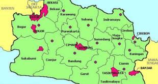 Peta Jawa Barat. (inet)