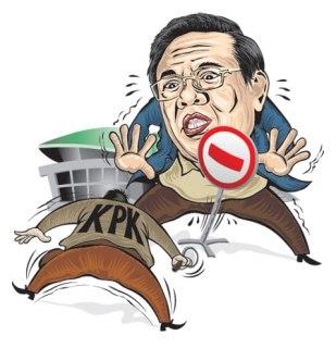 Arogansi KPK (ilustrasi)
