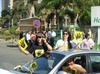 Di antara peserta demonstrasi Jumat 30 Agustus kemarin (inet)