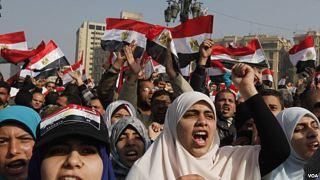 Perempuan Mesir dalam sebuah aksi (inet)