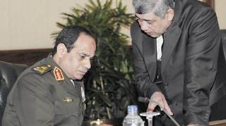 As-Sisi (menhan) dan Muhammad Ibrahim (mendagri)
