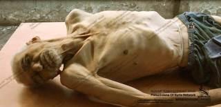 Foto kakek meninggal karena lapar di Suriah (islammemo)