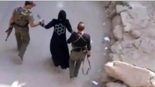 Salah satu aksi penculikan wanita Suriah (islammemo)