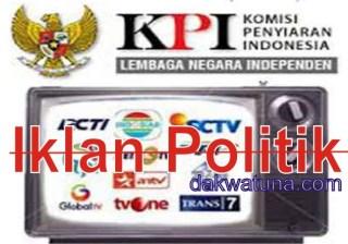 KPI melarang lembaga penyiaran menyiarkan iklan politik
