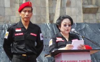 Megawati dan Jokowi, Pasangan Capres yang akan diusung PDIP pada Pemilu 2014 (Foto: tribunnews.com)
