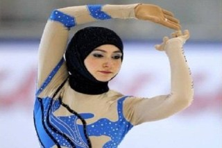 Zahra Lari, Atlet Ice Skating UEA tampi di Olimpiade Musim Dingin Sochi, Rusia. - Foto: maxpark.com