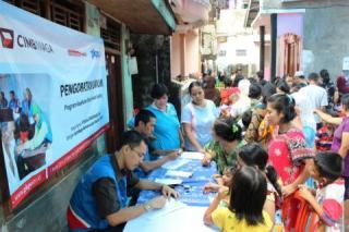 Promiling PKPU - CIMB Niaga, warga Kebon Pala, Tanah Rendah, RT: 10,8/7,  Kampung Melayu - Foto: PKPU
