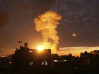 Serangan udara yang dilakukan Israel pada malam hari (paltimes)