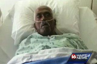 Walter Wlliams dipindahkan dari rumah duka ke ruang perawatan di Rumah Sakit di Lexington, Amerika Serikat, - Foto: mirror.co.uk