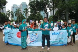 Belanja Bareng yatim (BBY) PKPU di Islamic Book Fair Istora Senayan Jakarta, Sabtu (1/3) - Foto: PKPU