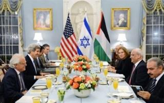 Perundingan PLO-Israel yang dihadiri Menlu AS, John Kerry (arsip paltimes)