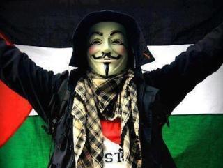 Topeng Vendetta yang menjadi lambang kelompok hacker Anonymous (paltimes)