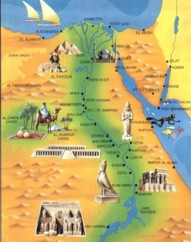 Peta Mesir (blondietravelblog)