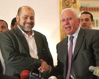 Azzam Al-Ahmad dan Musa Abu Marzuq (media24)