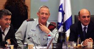 Benny Jants (tengah), Kepala Staf Militer Israel (akhbaralaalam)