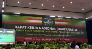 Rakernas dan Mukernas Muslimat NU di Asrama Haji Pondok Gede, Jakarta. Rabu (28/5).  (tribunnews.com)