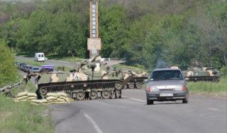 Alat perang halangi akses jalan di Ukraina (Al-Jazeera)