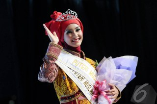 Siti Nurmelia Baskarani, Putri Muslimah Indonesia 2014.  (liputan6.com)