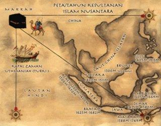 Peta Kesultanan Islam di bumi Nusantara (inet) - catatanristanto.wordpress.com)