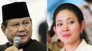 Prabowo Subianto dan Siti Hediati Haryadi atau Titiek Soeharto.  (tribunnews.com)