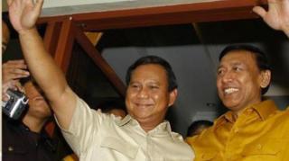 Prabowo Subianto dan Wiranto.  (tribunnews.com)