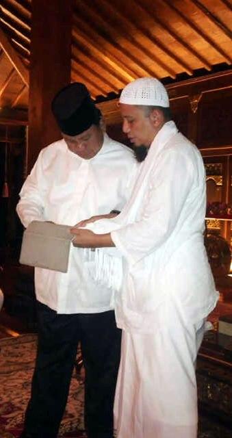 Prabowo Subianto dan Arifin Ilham. (ist)