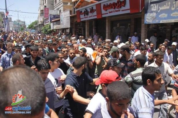 Warga Gaza mengantar para syuhada ke pemakaman (paltimes.net)