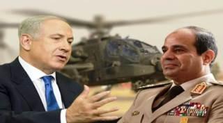 Netanyahu dan tokoh kudeta Mesir, Abdul Fatah As-Sisi (islammemo.cc)