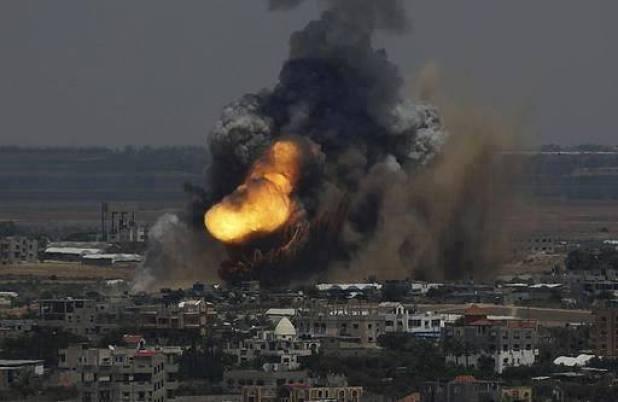 Salah satu serangan udara yang dilancarkan Israel di Gaza (Islamion)