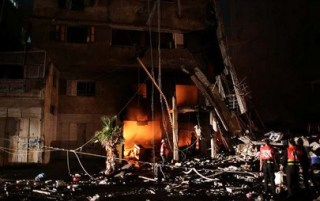 Rumah penduduk Palestina yang porak-poranda diserang rudal Israel (paltimes.net)