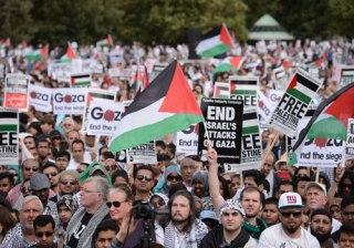 Demonstrasi di London mendukung Palestina (Today's Opinion)