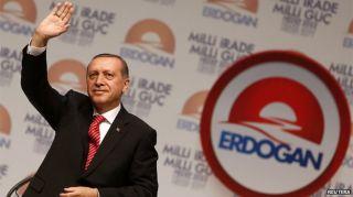 Erdogan saat berkampanye (BBC)