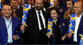 Rachmawati Soekarnoputri bersama Ketua Umum Partai Nasdem, Surya Paloh.  (lensaindonesia.com)