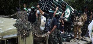Senjata berat batalion Izzuddin Al-Qassam yang digunakan dalam perang melawan Israel (felesteen.ps)