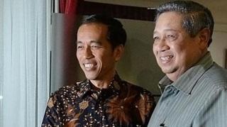 Joko Widodo dan Susilo Bambang Yudhoyono.  (tribunnews.com)