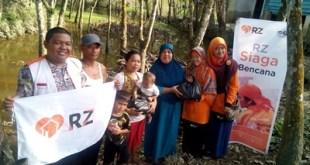 Penyaluran Bantuan Banjir di Pekanbaru
