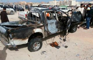 Bom mobil yang meledak di Tobruk kemarin (12/11/2014) (dailystar.com)