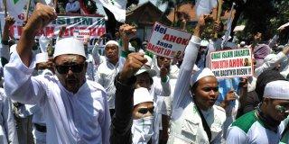 Demo Massa FPI Menolak Ahok beberapa waktu yang lalu.  (merdeka.com)