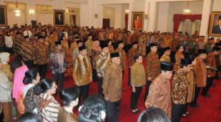Pelantikan menteri 'Kabinet Kerja' Jokowi-JK.  (liputan6.com)