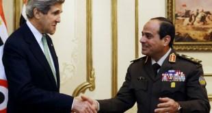 John Kerry temui pimpinan kudeta Mesir, As-Sisi. (newsmax.com)