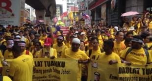 Aksi unjuk rasa Bersih 4.0 (themalaysiantimes.com)