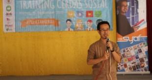 Training Cerdas Sosial (TCS) digelar di SMK Negeri 3 Klaten, Selasa (15/9/15).  (WAD/DD)