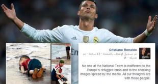 Status Ronaldo di Facebook.